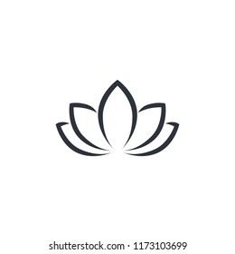 lotus floral icon logo template