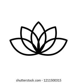 lotus - floral icon vector