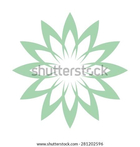 Lotus Flower Abstract Vector Logo Design Stock Vector Royalty Free