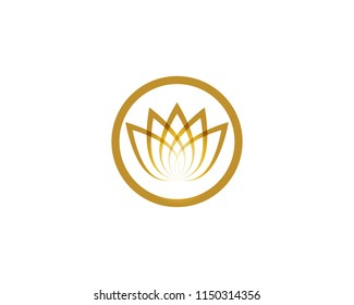 Lotus flower beauty logo and symbol vector