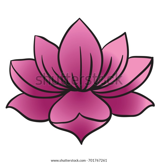 Lotus Flower Cartoon Illustration Isolated On Stock Vector Royalty