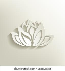 lotus flower - lotus flower design for spa, yoga class, resort -vector illustration