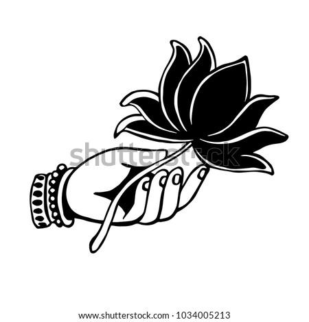 Lotus flower hand hands holding lotus stock vector royalty free lotus flower in hand hands holding lotus symbol logo design mightylinksfo