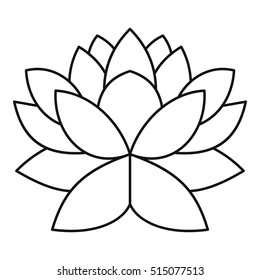 Lotus flower outline images stock photos vectors shutterstock lotus flower icon outline illustration of lotus flower vector icon for web design mightylinksfo