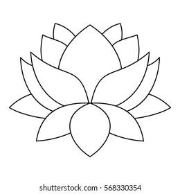 Lotus flower icon outline illustration lotus stock illustration lotus flower icon outline illustration of lotus flower vector icon for web mightylinksfo