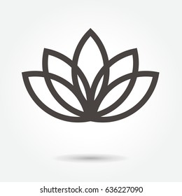 Lotus Flower icon vector on white background