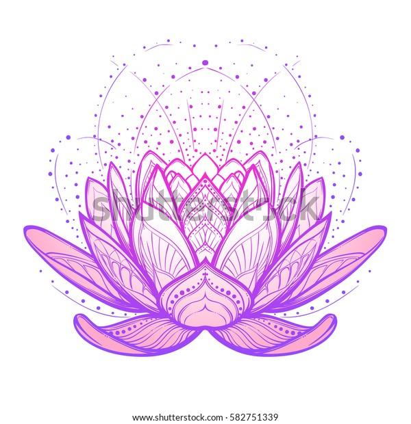 Image Vectorielle De Stock De Fleur De Lotus Dessin Complexe