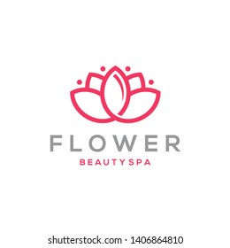 Lotus Flower Logo design. Beauty Spa salon. Logotype design vector. Luxury Fashion logo template