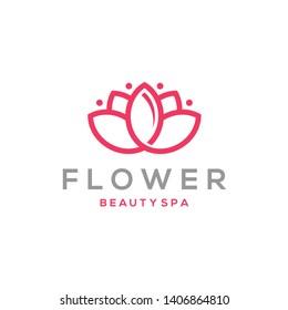 Lotus Flower Logo design. Beauty Spa salon. Logotype design vector. Luxury Fashion logo template
