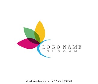Lotus flower logo design vector icon
