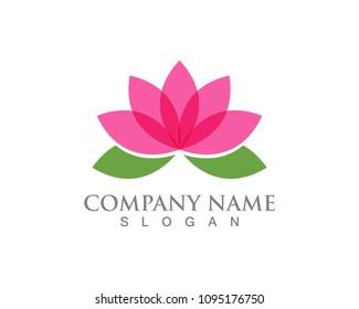 Lotus flower logo and symbols