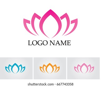 Lotus flower logo and symbols