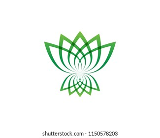 Lotus flower logo and symbols vector template icons