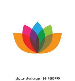lotus flower logo vector icon design
