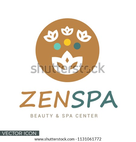 Lotus Flower Logo Icon Stock Vector Royalty Free 1131061772
