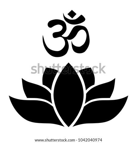 Lotus flower om symbol logo element stock vector royalty free lotus flower with om symbol logo element mightylinksfo