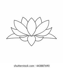 Black white lotus flower drawing images stock photos vectors lotus flower outline icon illustration of lotus flower outline logo vector isolated on white background mightylinksfo Gallery