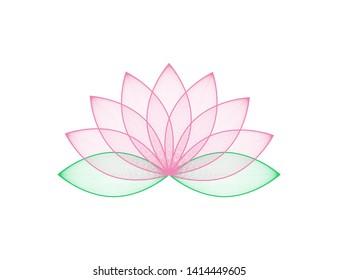 Lotus flower in pink color. Lotos flower in trendy flat design. Eps10