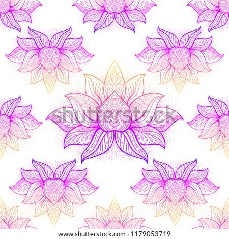 Lotus Flower Sacred Geometry Symbol All Stock Vector Royalty Free