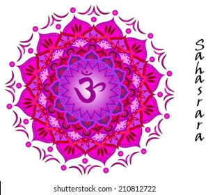 Lotus flower of Sahasrara chakra