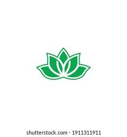 lotus flower shape minimalist vector logo design