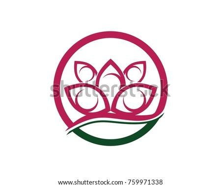 Lotus Flower Sign Wellness Spa Yoga Stock Vector Royalty Free