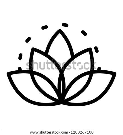 Lotus Flower Symbol Buddhism Thailand Stock Vector Royalty Free