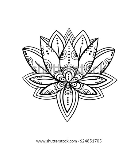 Lotus flower symbol vector art stock vector royalty free 624851705 lotus flower symbol vector art mightylinksfo