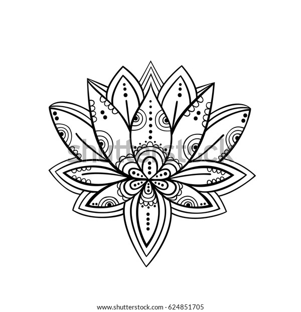 Lotus Flower Symbol Vector Art Stock Vector Royalty Free 624851705