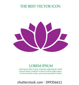 Lotus flower vector icon. Spiritual simple isolated sign symbol.