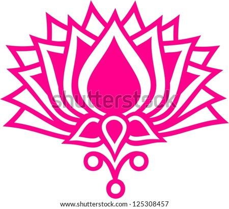 Lotus Flower Lotus Flower Vector Image Stock Vector Royalty Free
