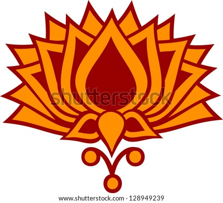 Lotus Flower Vector Image Buddhism Symbol Stock Vector Royalty Free