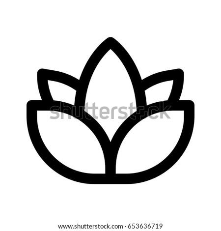 Lotus Flower Yoga Stock Vector Royalty Free 653636719 Shutterstock