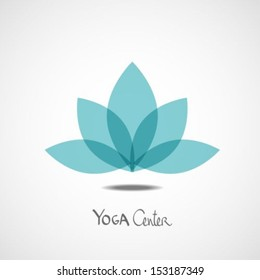 Lotus Flower Yoga Center Illustration