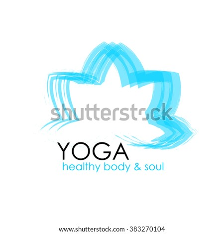 Lotus Flower Yoga Symbol Template Logo Stock Vector Royalty Free