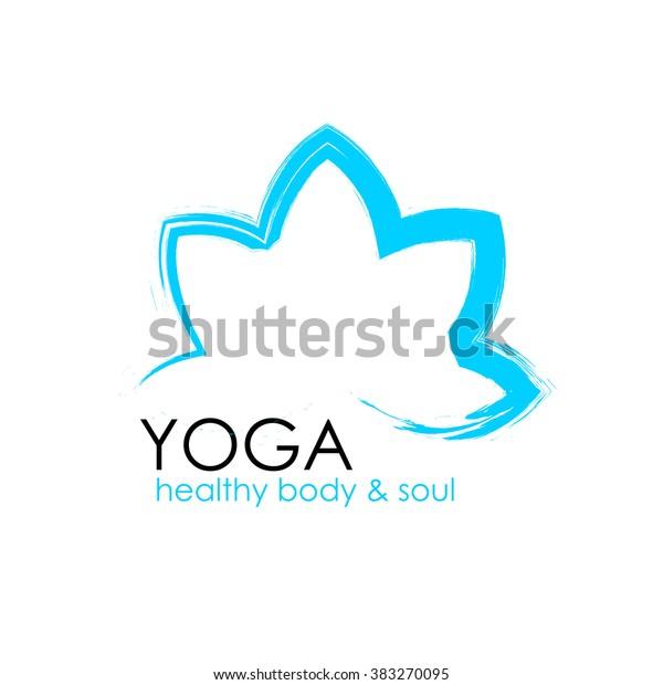 Lotus Flower Yoga Symbol Template Logo Stock Vector Royalty Free 383270095