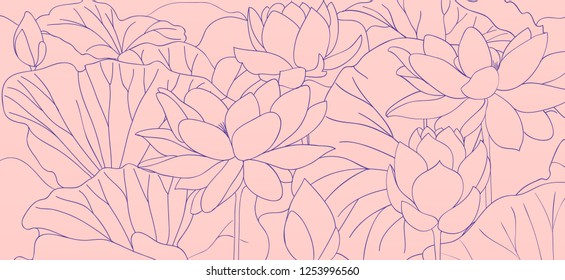 Lotus Outline Images Stock Photos Vectors Shutterstock