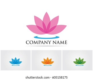 Lotus flowers logo