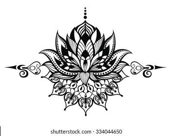 Lotus flower.Tattoo