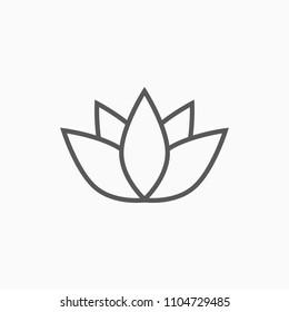 lotus icon, flower vector
