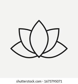 Lotus icon isolated on white background. Vector illustration. Eps 10.