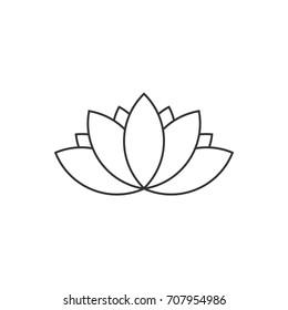 Lotus icon line art