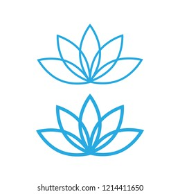 Lotus icon. lotos flower calm and harmony pictogram vector