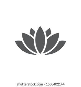 Lotus icon on white background