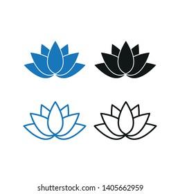 Lotus icon. Simple flat vector illustration.