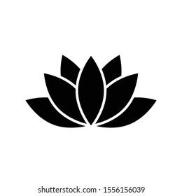 lotus icon, spa icon vector