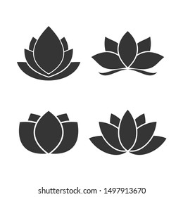 Lotus icon template color editable. Lotus plant. Lotus flower symbol vector sign isolated on white background. Simple logo vector illustration for graphic and web design.