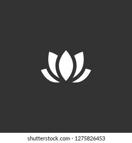 lotus icon vector. lotus vector graphic illustration