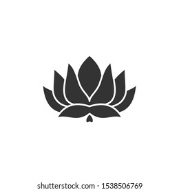 Lotus Icon vector sign isolated for graphic and web design. Lotus plant. Lotus flower symbol template color editable on white background.
