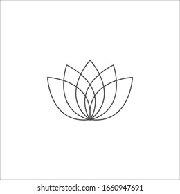 Lotus icon vector sign isolated on white background. Lotus symbol